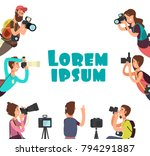 photographers taking photo.... | Shutterstock .eps vector #794291887