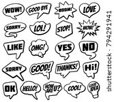 vintage speech bubble with... | Shutterstock .eps vector #794291941