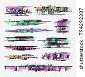 glitch vector elements.... | Shutterstock .eps vector #794292337