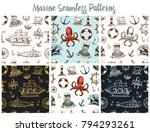 marine and nautical or sea ... | Shutterstock .eps vector #794293261