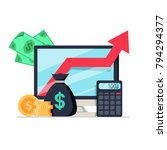 income increase  financial... | Shutterstock .eps vector #794294377