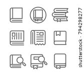 book and newspaper icon vector...