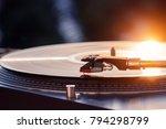turntable vinyl record player... | Shutterstock . vector #794298799