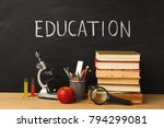 educational background.... | Shutterstock . vector #794299081