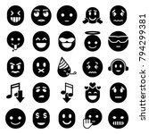 emoticon icons. set of 25... | Shutterstock .eps vector #794299381