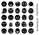 emotion icons. set of 25... | Shutterstock .eps vector #794299495