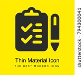 checklist bright yellow...