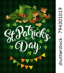 st. patricks day vintage...   Shutterstock .eps vector #794301019