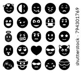 emotion icons set of 25