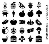 nutrition icons. set of 25... | Shutterstock .eps vector #794302015