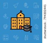 set of school icons. vector... | Shutterstock .eps vector #794302441