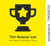 trophy bright yellow material...