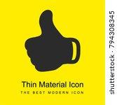thumb up black hand symbol...