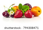 berry mix with strawberry and... | Shutterstock . vector #794308471