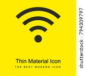 wifi bright yellow material...