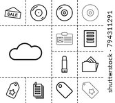 copy icons. set of 13 editable... | Shutterstock .eps vector #794311291