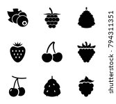 berry icons. set of 9 editable... | Shutterstock .eps vector #794311351