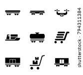 shipment icons. set of 9...   Shutterstock .eps vector #794311384