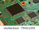 electronic circuit board close... | Shutterstock . vector #794311555