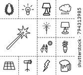 light icons. set of 13 editable ... | Shutterstock .eps vector #794313985