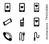 cellphone icons. set of 9... | Shutterstock .eps vector #794314084