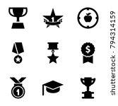 achievement icons. set of 9... | Shutterstock .eps vector #794314159