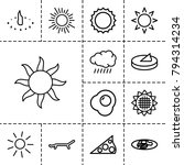 sunny icons. set of 13 editable ... | Shutterstock .eps vector #794314234