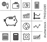 economy icons. set of 13... | Shutterstock .eps vector #794314285
