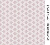 subtle vector seamless pattern... | Shutterstock .eps vector #794314915