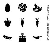 ingredient icons. set of 9... | Shutterstock .eps vector #794323489