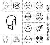 facial icons. set of 13... | Shutterstock .eps vector #794323525