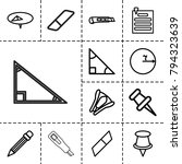 stationery icons. set of 13... | Shutterstock .eps vector #794323639