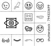 eye icons. set of 13 editable... | Shutterstock .eps vector #794323699