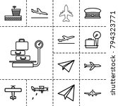 airplane icons. set of 13... | Shutterstock .eps vector #794323771