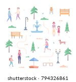 city park elements   set of... | Shutterstock .eps vector #794326861