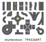 road map toolkit   set of... | Shutterstock .eps vector #794326897