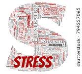 vector conceptual mental stress ... | Shutterstock .eps vector #794327065