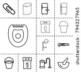 appliance icons. set of 13... | Shutterstock .eps vector #794327965