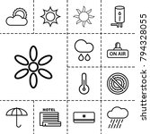 climate icons. set of 13... | Shutterstock .eps vector #794328055