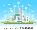 eco friendly housing complex  ... | Shutterstock .eps vector #794328244