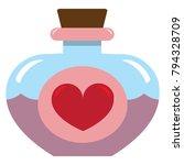 vector cute kawaii love potion... | Shutterstock .eps vector #794328709