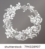 lace flowers frame decoration... | Shutterstock .eps vector #794328907