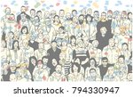illustration of large group of... | Shutterstock .eps vector #794330947