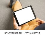 template and mockup for tablet... | Shutterstock . vector #794335945