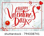 valentine's day background with ... | Shutterstock .eps vector #794338741