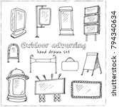 hand drawn doodle outdoor... | Shutterstock .eps vector #794340634