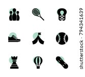 recreation icons. vector...