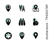 pin icons. vector collection...