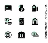 bank icons. vector collection...