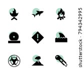 dangerous icons. vector... | Shutterstock .eps vector #794342995